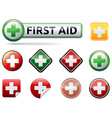 First aid icons vector