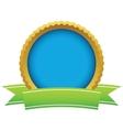 Gold empty logo vector
