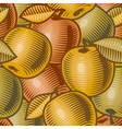 Retro apple background vector