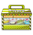 A green bakery store vector