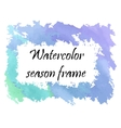 Watercolor winter frame vector