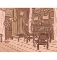 Wooden room vector