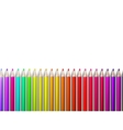 Colorful pencil crayons on white plus eps10 vector