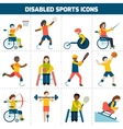 Disabled sports icons vector
