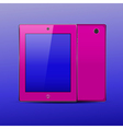 Tablet pc color pink vector
