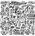 Raphip hop graffiti - doodles set vector