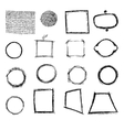 Geometric shapes freehand hatching vector