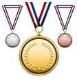 Medals with blank face vector