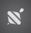 Whirligig sketch logo doodle icon vector