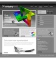Gray website template 960 grid vector