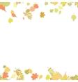Seamless autumn leaves pattern vector