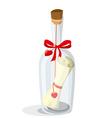Love letter in a bottle vector