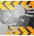 A grungy and worn hazard stripes texture vector