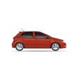 Hatchback car vector