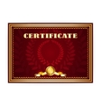 Horizontal old certificate with a laurel wreath vector