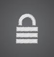 Lock sketch logo doodle icon vector