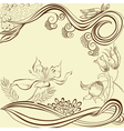 Background with stylized flowers vector
