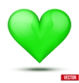 Beautiful realistic green heart vector