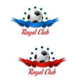 Royal club soccer championship emblem vector