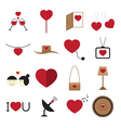Valentine icon set vector
