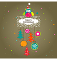 Template christmas greeting card vector
