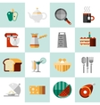Cooking food icons vector