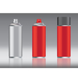 Red spray can vector