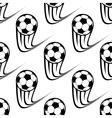 Seamless pattern of speeding soccer balls vector