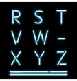 Neon light alphabet 3 vector