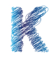 Sketched letter k vector