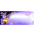 Background for banner box surprise butterfly vector