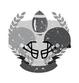 Vintage football club badge and label with helmet vector