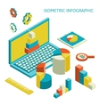 Isometric business finance analytics chart vector