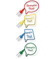 Labels with felt tip pen vector