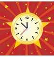 Old vintage clock face vector