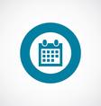 Calendar icon bold blue circle border vector