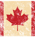 Canada retro flag vector