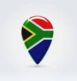 Republic of south africa icon point for map vector