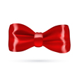 Red gift bow on white background vector