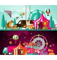 Circus day and night vector