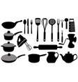 Kitchen tools collage vector