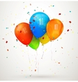 Holiday balloons vector