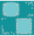 Set floral frame vector