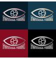 Soccer vision design template vector