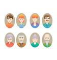 Big happy family portraits vector