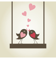 Bird of love9 vector