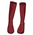 A pair of maroon boots vector