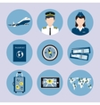 Airline icons set vector