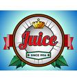 Juice or soda label vector