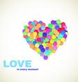 Colorful confetti heart vector